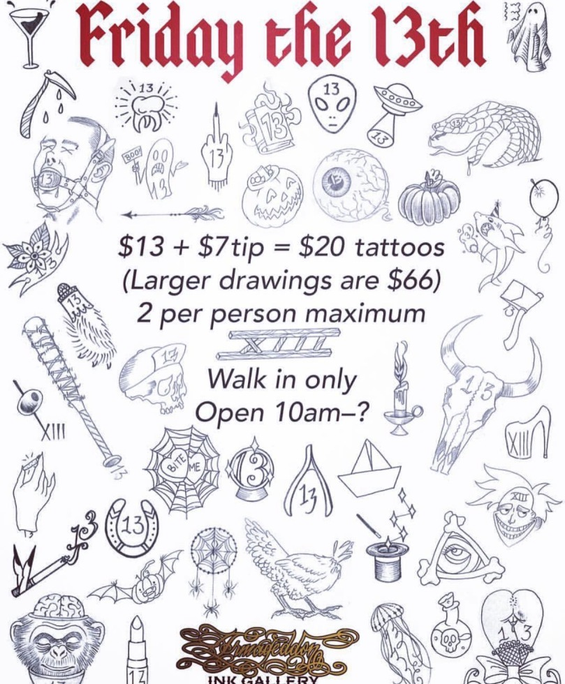 13 Tattoos In Nyc On Friday The 13th October 2017 Thatleogirl